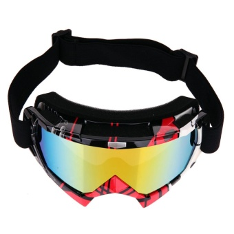 Professional Motocross Goggles Dirt Bike ATV Motorcycle Ski Glasses(Red) - intl