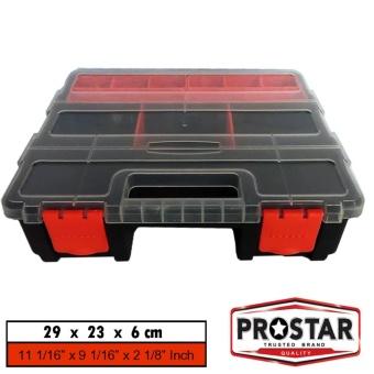 Prostar F Box / Harley Inspired Color Combo Organizer Box / Tool Box Model F 290(L) Large (Black)