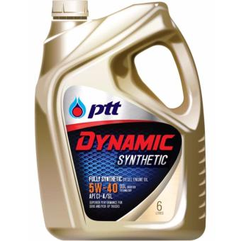 PTT DYNAMIC SYNTHETIC 5W-40 Diesel Engine Oil 6 Liters + 1 Liter Free