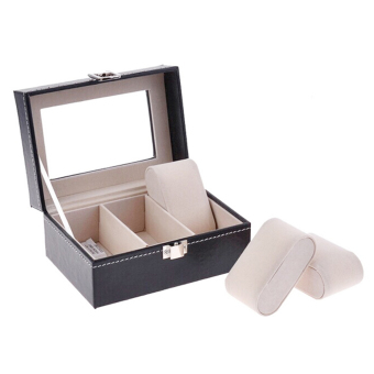 PU Leather Box 3 Grid Slots Watch Jewelry Display Storage OrganizerCase - Intl - 5