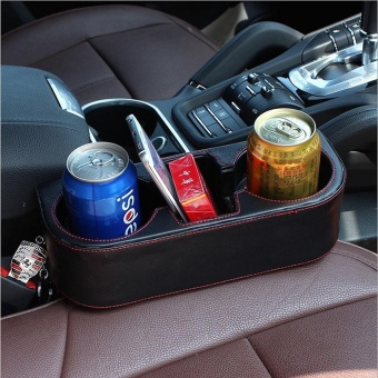 PU Leather Car Seat Cup Holder Car Storage Box Stowing Tidying Universal Auto Drink Holder Phone Holder Stand - intl - 5