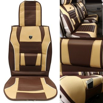 PU Leather Full Surround Car Seat Cushion Cover Support Pad Four Seasons - intl