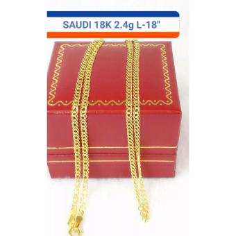Pure Saudi Gold 18K Necklace 2.4grams length 18inches