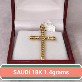 Pure Saudi Gold 18K Pendant Cross 1.4g