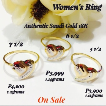 Pure Saudi Gold 18K Real Gold Womens RIng Pawnable (Size 6 1/2)Christhas Collection Online Boutique Shoppe