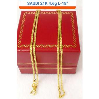 Pure Saudi Gold 21K Necklace chain 4.61g L-18nches