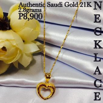 Pure Saudi Gold 21K Real Gold Necklace & Pendant PawnableChristhas Collection Online Boutique Shoppe