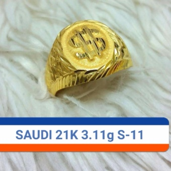 Pure Saudi Gold 21K rings for Men 3.11g size 11