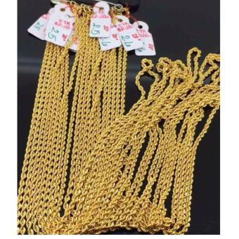 Pure Saudi Gold 21K Rope Necklace Chain 2.5g