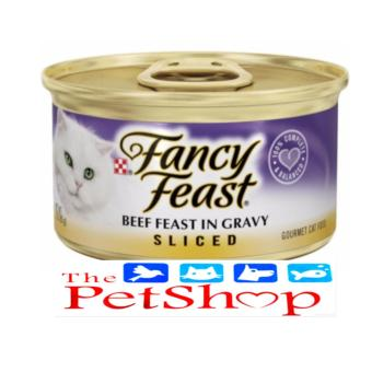 Purina Fancy Feast Sliced Beef Feast Canned 85g