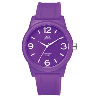 Q&Q Japan by Citizen, QQ VR35J015Y Violet, Analog 100-Meter Water Resistant Men's and Women's Watch