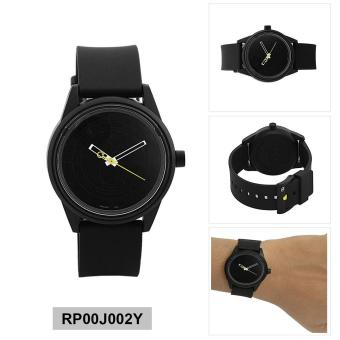 Q&Q Watch Black Resin Case Resin Strap Unisex NWT + Warranty RP00J002Y