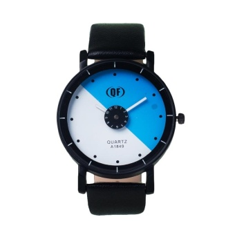 QF 1145 Genuine Leather Watch with Mini Round Dial (Blue/White) #0127