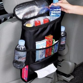 QF Car Auto Seat Back Multi-Pocket Storage Cool Hot Bag Organizer