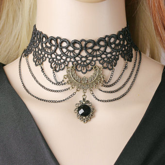 Queen European and American black limited time lace necklace choker