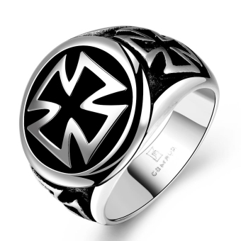R166 Cool 316L Stainless Steel Cross Ring 8 - Intl