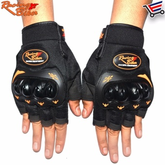 Racing Bike Motorcycle Sports Racing Gloves Half Finger - M (Black) Price Philippines