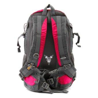 Racini 40-373 Mountaineering Backpack (Dark Gray/ Red Violet) - 2