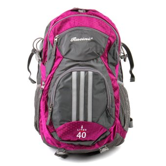 Racini 40-373 Mountaineering Backpack (Dark Gray/Violet)