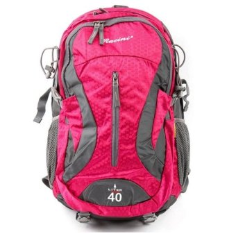 Racini 40-374 Mountaineering Backpack (Dark Gray/Red Violet)