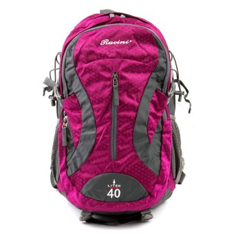 Racini 40-374 Mountaineering Backpack (Dark Gray/Violet)