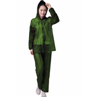 Rain Drops Suite Raincoat Sea Green