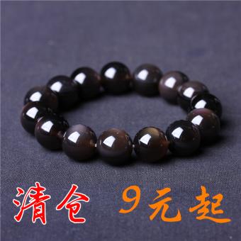 946b34829a17 Rainbow single loop for men and women eye bracelets obsidian bracelet