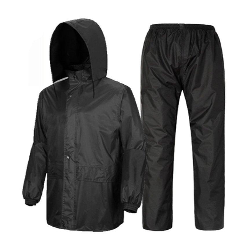 Raincoat and Pants for Adult (Night Black) | Lazada PH