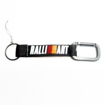 RalliArt Polyester Car Key Chain Band Key Chain Ring