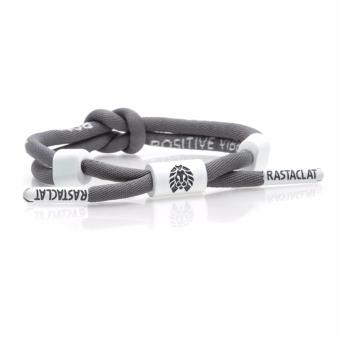 RASTACLAT Shoelace Bracelet Positive Vibes Grey (Grey/White) Price Philippines
