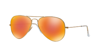 Ray-Ban Aviator Flash Lenses Orange Flash RB3025 112/69 (Multi) Sunglasses