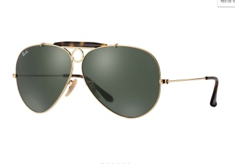 Ray - Ban Shooter Green Classic G - 15 RB3138 181 (62-9) Sunglasses