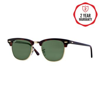 Ray-Ban Sunglasses Clubmaster RB3016 - Mock Tortoise/ Arista (W0366) Size 49 Crystal Green