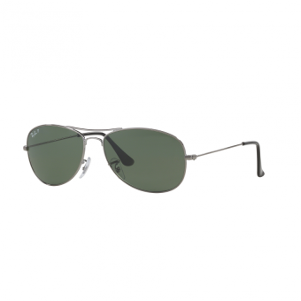 Ray-Ban Sunglasses Cockpit RB3362 - Gunmetal (004/58) Size 59Crystal Green Polarized