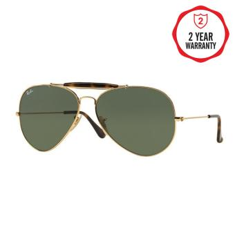 Ray-Ban Sunglasses Outdoorsman Ii RB3029 - Gold (181) Size 62 Dark Green