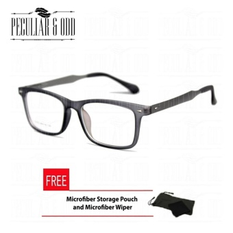 Rectangular Multicoated Replaceable Eyeglasses E076_Gray with Spring Hinges Unisex Multicoated Replaceable Lens Computer Anti-Radiation Blue Lens Eyeglass Lenses Unisex