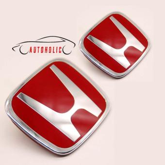 Red H Emblem Pair for Honda City 2009-2013