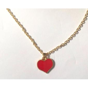 Red Heart pendant necklace gold dipped 5g - 3