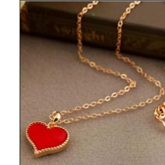 Red Heart pendant necklace gold dipped 5g - 2