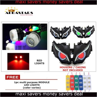 Red Motorcycle LED Light Eagle Eye DRL Light Bulb for Kawaski Bajaj Rouser 135LS