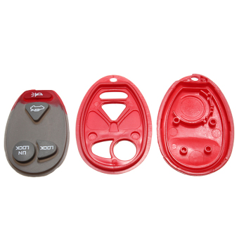 Replacement Remote Keyless Key Fob Shell For Buick Red - picture 2