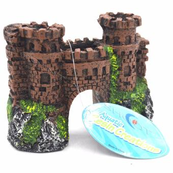 Resin Aerated Ornament Brick Castle Small for Aquarium / Fish TanksDecorations - Red (12x6x9cm) Price Philippines
