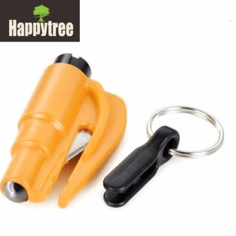 ResQ Me Multifunction 2 - in - 1 Emergency Car Safety Hammer + Belt Cutter + Keychain Emergency Tool