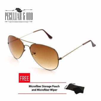 Retro Style Classic Aviator with Brown Lens_Brown_3025 Unisex Sunglasses uv400