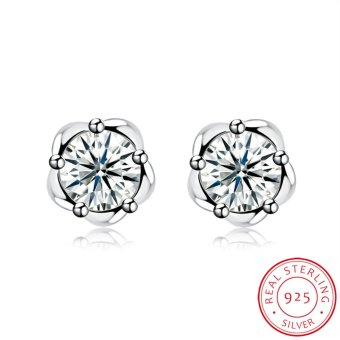 Rich Long Women's 925 Sterling Silver Rhinestone Zircon SH-E0084 Fashion stud earrings Basic Jewelry For Business Gift Daily Casual Office - intl