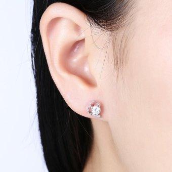 Rich Long Women's 925 Sterling Silver Rhinestone Zircon SH-E0081Fashion stud earrings Basic Jewelry For Business Gift Daily CasualOffice - intl - 4