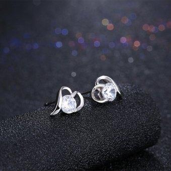 Rich Long Women's 925 Sterling Silver Rhinestone Zircon SH-E0081Fashion stud earrings Basic Jewelry For Business Gift Daily CasualOffice - intl - 3