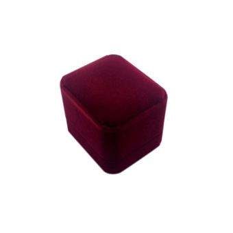 Ring Earrings Display Case Velvet Jewerly Gift Boxes Storage CaseBox - intl