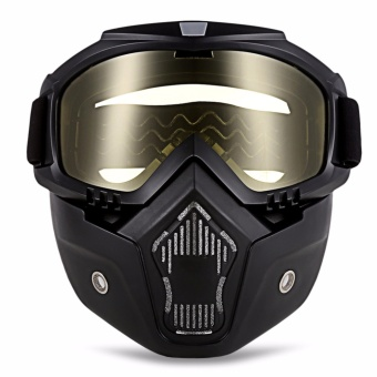 ROBESBON Motorcycle Anti-UV Goggles with Mask - intl