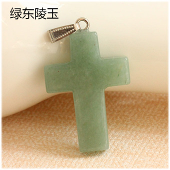 Rose quartz tanglin jade pendant cross necklace pendant